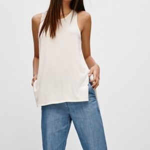 Aritzia Wilfred Free Light Gray Ornella Tank M